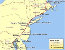 Lista de rotas da Amtrak  Wikipdia a enciclopdia livre