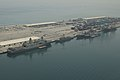 An aerial view of U.S. Navy ships moored in Manama, Bahrain, May 12, 2013, in preparation for International Mine Countermeasures Exercise (IMCMEX) 2013 130512-N-OA702-024.jpg