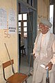 An old man at the polling booth in School Mall Road for casting his vote, during the 5th and final phase of General Election-2009, in Nainital, Uttarakhand on May 13, 2009.jpg