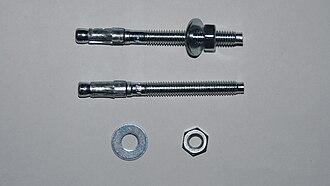 Anchor bolt - Image: Ancor bolt for concrete