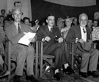 Henri Bourassa - Maxime Raymond, André Laurendeau and Henri Bourassa (right) in 1944.