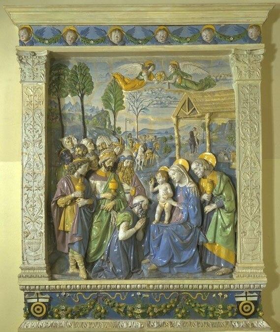 Andrea della Robbia, The Adoration of the Magi altarpiece (c. 1500–1510), Victoria and Albert Museum, London