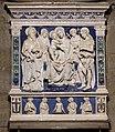 Andrea della robbia, Vergine col Bambino, tra i santi Romolo, Jacopo, Giovanni Battista e Francesco d'Assisi 02.jpg