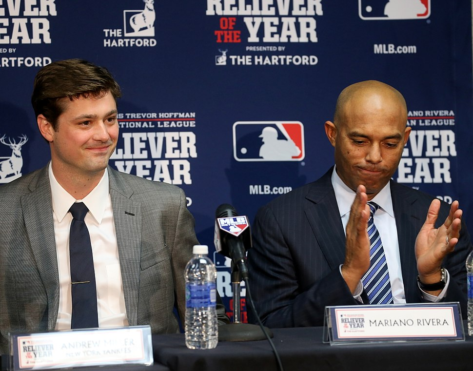 Andrew Miller named 2015 AL Reliever of the Year with Mariano Rivera