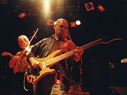 Andy West and Allen Sloan of the Dixie Dregs live in 1999