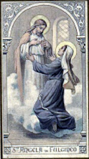 Angela of Foligno - A holy card depicting Saint Angela