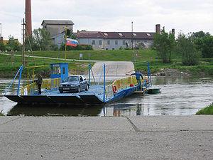 Angern an der March - Ferry cross the Morava
