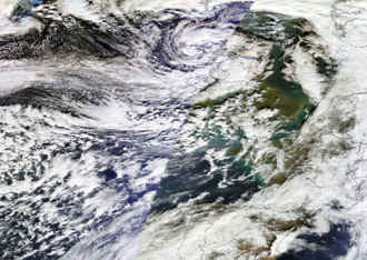 2014 in Ireland - Cyclone Anne on 3 January 2014