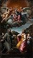 Annibale carracci, madonna col bambino tra i ss. francesco, antonio e dorotea (madonna della manna d'oro), 1599, 02.jpg