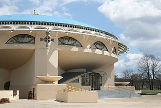 Wauwatosa, Wisconsin - Church of the Annunciation in Wauwatosa, designed by Frank Lloyd Wright