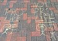 Anti-Abortion Chalking Outside Time Warner Cable Center (7907982170).jpg