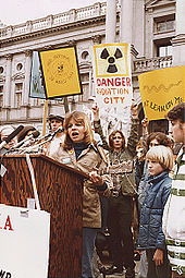 Anti-nuke rally in Harrisburg USA