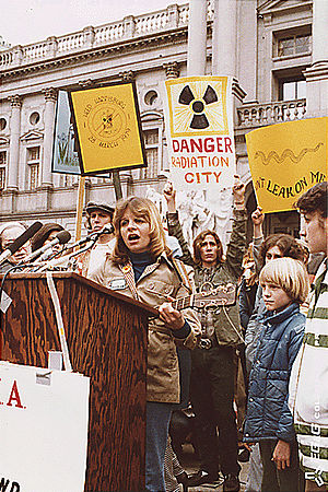Anti-nuclear protests in the United States - Anti-nuclear protest at Harrisburg in 1979, following the Three Mile Island Accident.