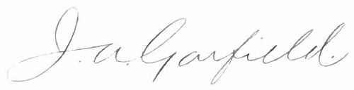 Appletons' Garfield James Signature.jpg