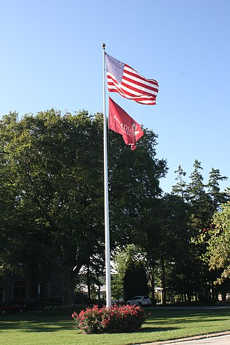 Arcadia University, Pennsylvania - Flag at Arcadia University