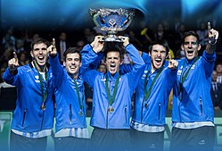 Argentina won their first Davis Cup title