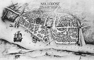 History of Gothenburg - Nya Lödöse (New Lödöse) at the end of the 16th century.