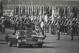 Republic of Korea Armed Forces - President Park Chung-hee inspecting the troops at the 1973 Republic of Korea Armed Forces Day parade.