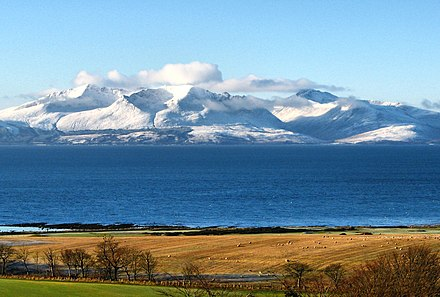 The Isle of Arran in the Firth of Clyde
