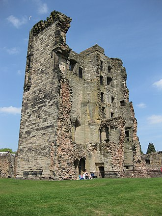 Ashby de la Zouch Castle - The Great Tower, slighted after the English Civil War