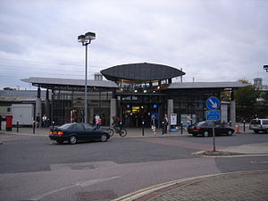 Ashford International railway station - The previous station entrance, dating from the 1990s