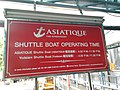 Asiatique The Riverfront - Signboard of shuttle boat platform.jpg