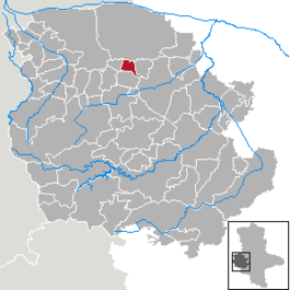 Location of Aspenstedt within the Harz district