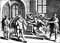 Assassination of George Martinuzzi 1551 dec 17 in Alvincz Castle.jpg