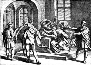 George Martinuzzi - Image: Assassination of George Martinuzzi 1551 dec 17 in Alvincz Castle