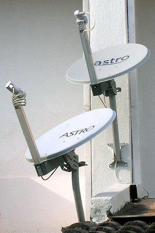 Satellite television dishes in Malaysia. Astro satellite dishes.jpg