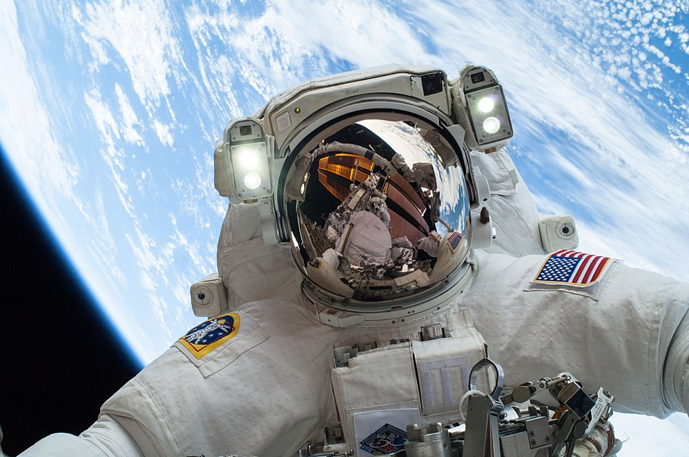 Astronaut Mike Hopkins on Dec. 24 Spacewalk