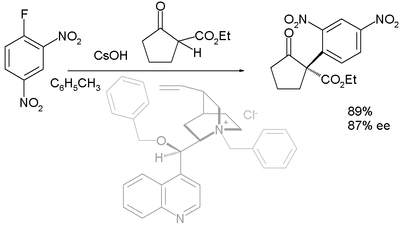Asymmetric nucleophilic aromatic substitution
