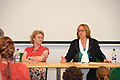 Athene Donald and Anne O'Garra answering questions.jpg