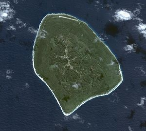 Atiu - Aerial view of Atiu