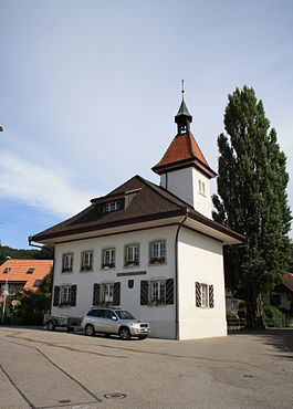 Municipal administration building in Attiswil village