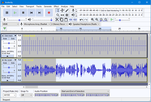 Audacity (audio editor) - Image: Audacity 2 2 0 Light theme