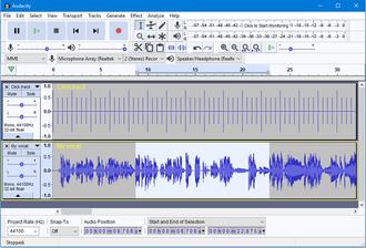 Audacity (audio editor) - Image: Audacity 2 2 0 Light theme