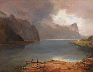 August Schaeffer - View of Mondsee