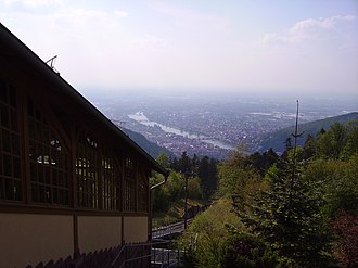 Heidelberger Bergbahn - View from the upper station