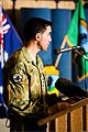 Australian Army Col. Simon Stuart, the outgoing commander of Combined Team Uruzgan, delivers remarks during a transfer of authority ceremony Aug. 7, 2013, at Multinational Base Tarin Kowt in Uruzgan province 130807-O-MD709-061-AU.jpg