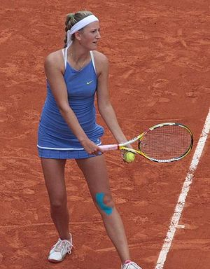 Victoria Azarenka - Azarenka competing at the 2009 French Open.