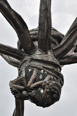 Maman (sculpture) - Sac containing marble eggs At Zürichsee-Schifffahrtsgesellschaft, Zürich, 2011