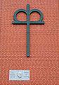 Büttnerstraße Hannover, Diakonie Zeichen am Otto-Reinhold-Haus mit Gedenktafel Otto Reinhold, Wohngebäude vom Werkheim e.V.jpg