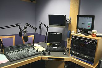BBC Radio Wales - A BBC Wales Sport radio booth