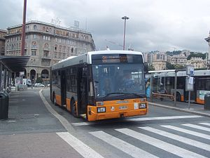 AMT Genova - One of the AMT's urban buses