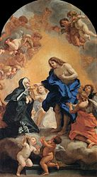 Giovanni Battista Gaulli: A Blessed Abbess Receiving the Host from the Hands of Christ