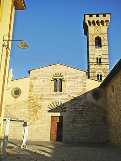 San salvatore Abbey-Facade in Vaiano