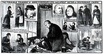George Bagster Phillips - Phillips examines the body of Annie Chapman at 29 Hanbury Street.