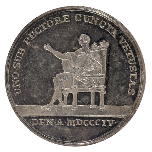File:Baksida av medalj med bild av en sittande man - Skoklosters slott - 99389.tif