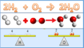 Balancing chemical equation - formation of water.png